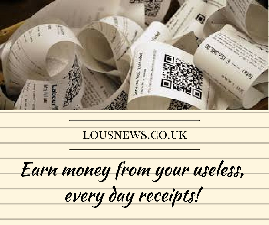 Earn money from your useless, everyday receipts!