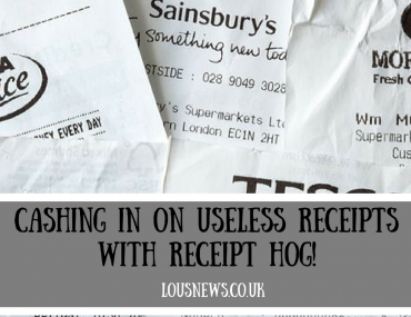 Cashing in on useless receipts with Receipt hog!