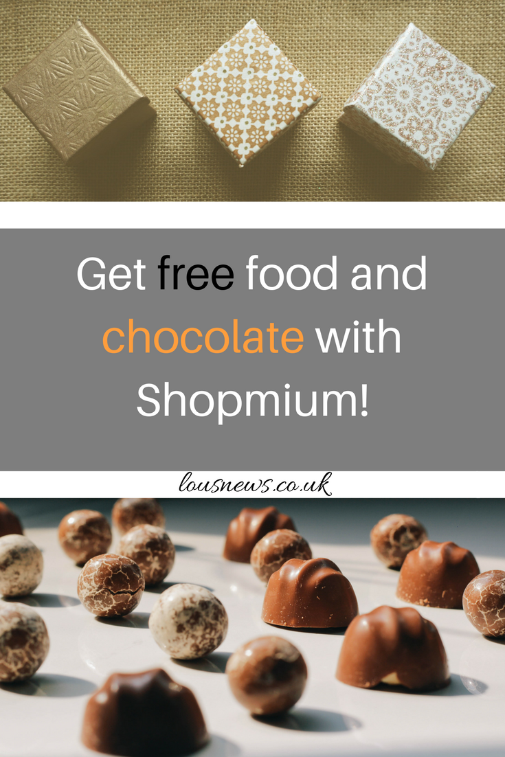Get free food and chocolate with Shopmium!