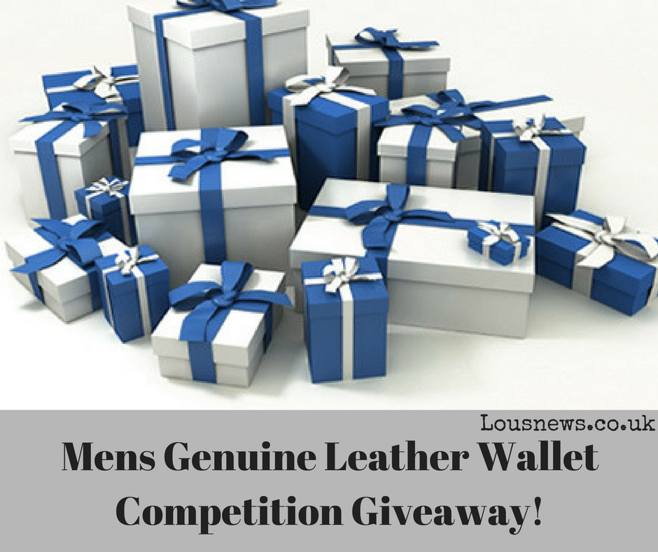 Mens Genuine Leather Wallet Competition Giveaway!