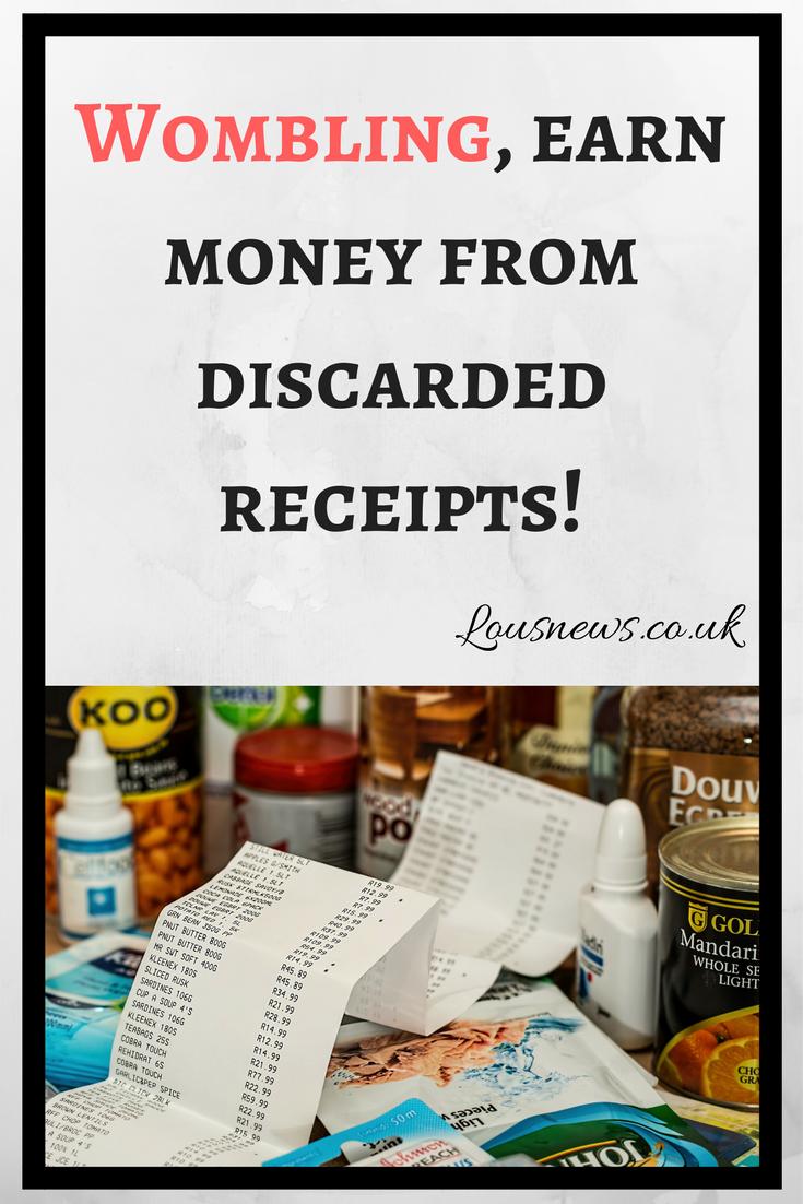 Wombling, earn money from discarded receipts!