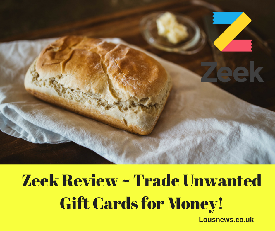 Zeek Review ~ Trade Unwanted Gift Cards for Money!