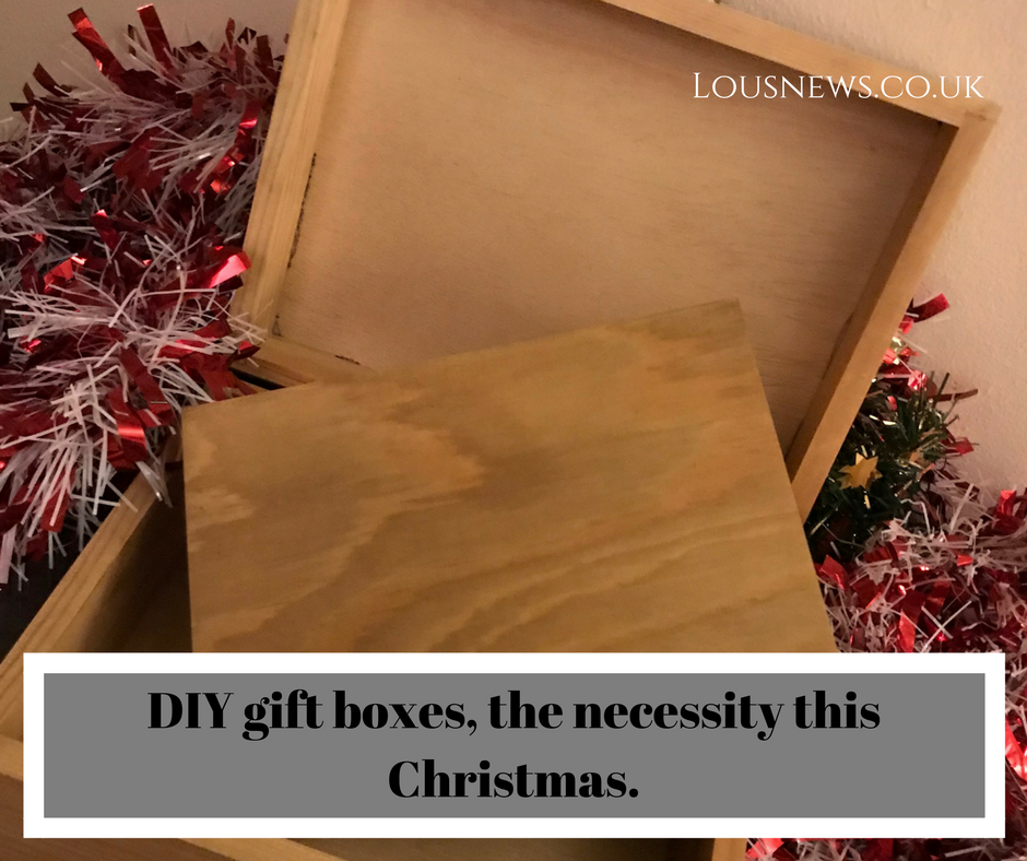 DIY gift boxes, the necessity this Christmas.