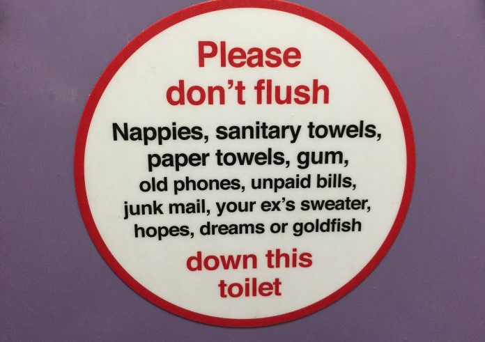 British Toilet Seat Sign Funny