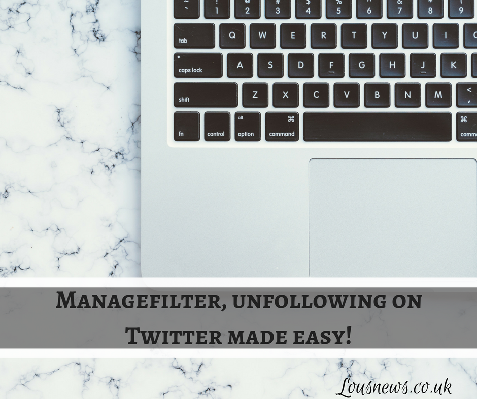 Managefilter, unfollowing on Twitter made easy!