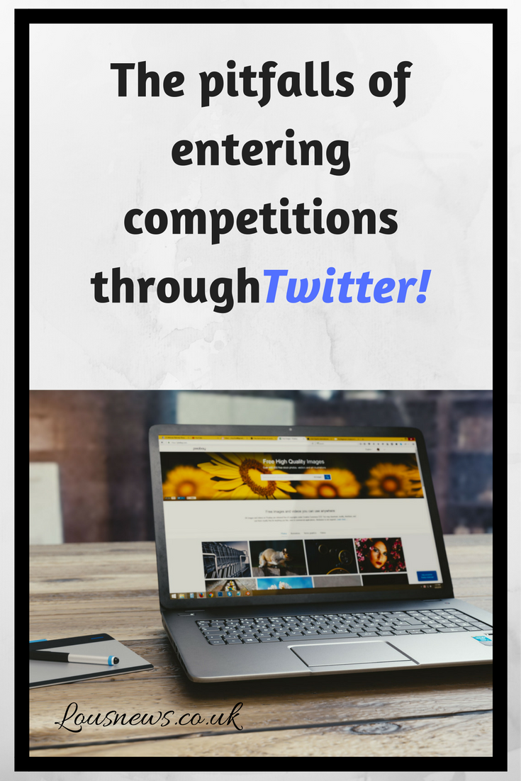 The pitfalls of entering competitions through Twitter!