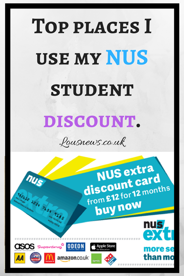 Top places I use my NUS student discount.