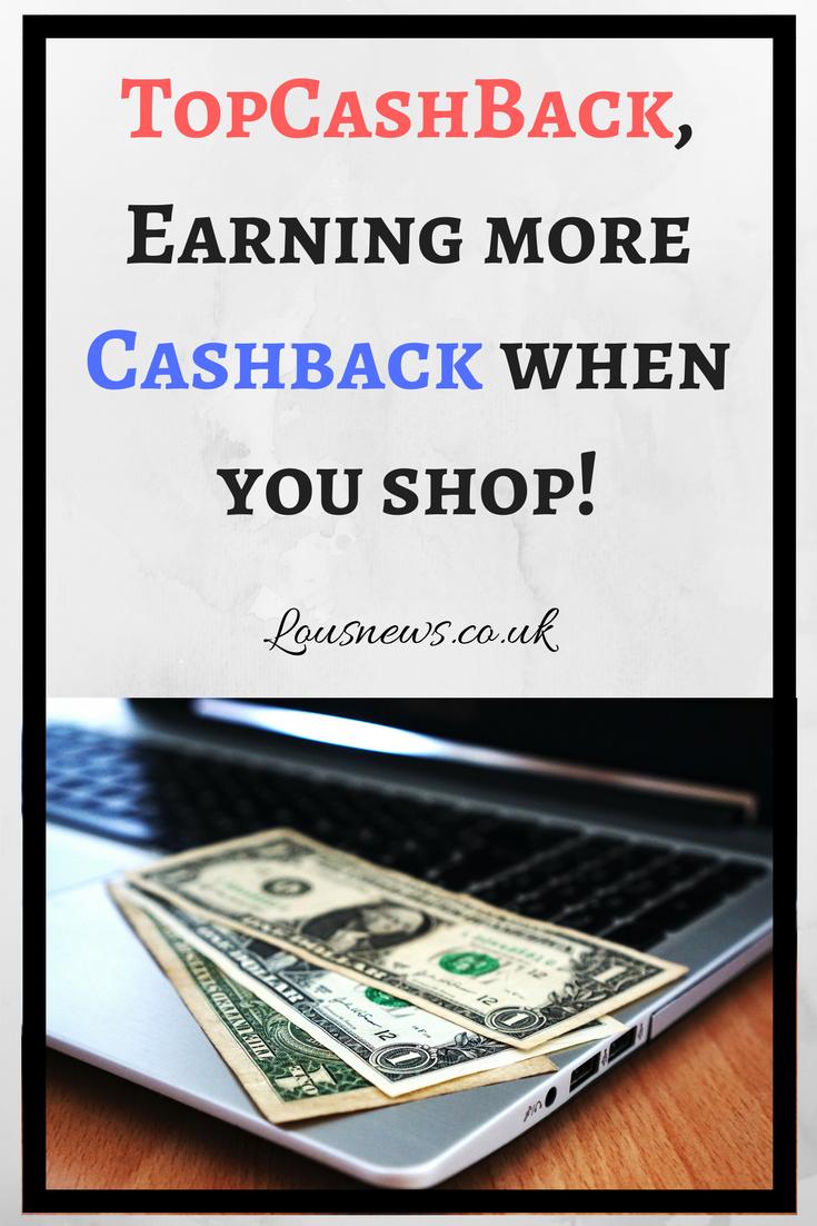 TopCashBack, Earning more Cashback when you shop!