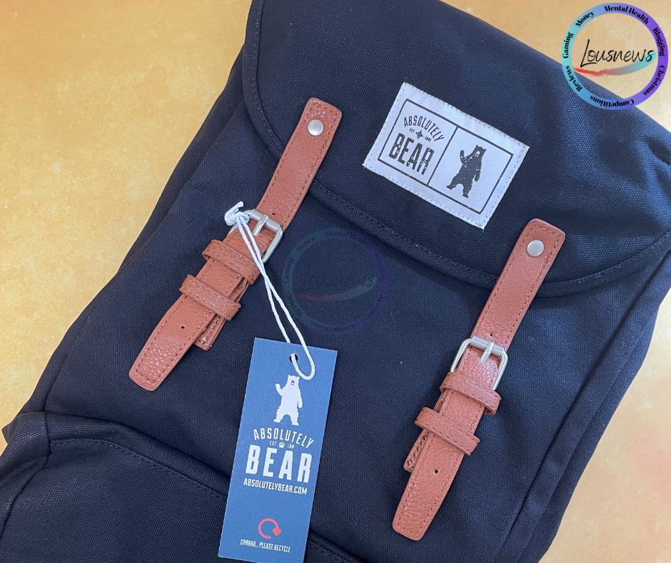 Absolytely Bear Cedar Canvas Backpack